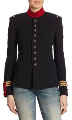 Ralph Lauren Collection Iconic The Officer's Double-Faced Wool Jacket $2,290 thestylecure.com