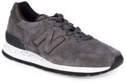 New Balance Suede & Leather Perforated Sneakers