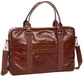Age Carriers Bordeaux Leather Briefcase