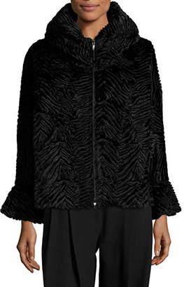 Emporio Armani Whimsical Velvet Caban Jacket