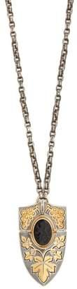 Elie Top - Yellow Gold, Onyx & Diamond Pendant Necklace - Womens - Gold