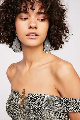 Mia Leather Teardrop Earrings