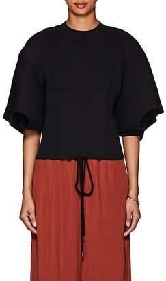 AKIRA NAKA Women's Cutout Rib-Knit Top
