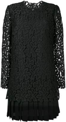 Ermanno Scervino embroidered pleated dress