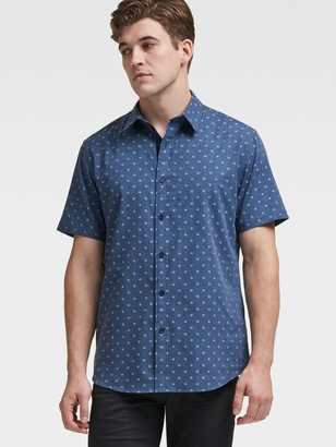 DKNY Dotted Chambray Button-Up Shirt