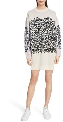 Kenzo Comfort Leopard Sweater Dress