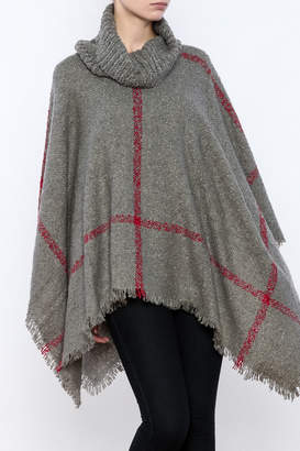 Two's Company Cowl Neck Poncho $63 thestylecure.com