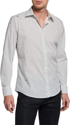 Givenchy Men's Signature Striped Sport Shirt