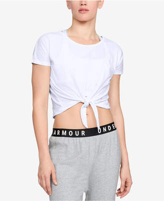 Under Armour Front-Tie Cropped T-Shirt
