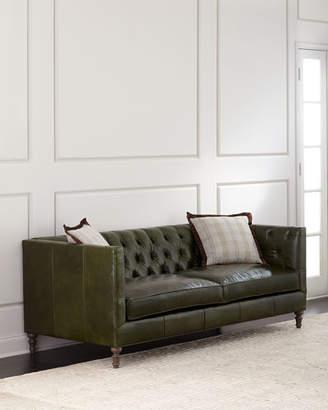 Mackenzie Tufted Leather Sofa