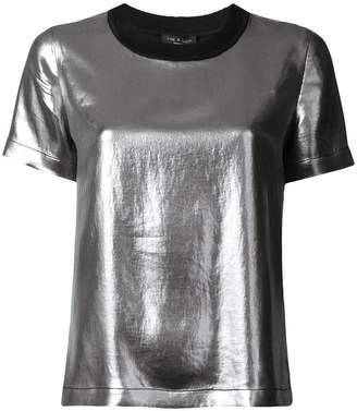 Rag & Bone metallic short-sleeve top