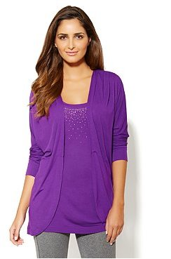 New York & Co. Love, NY&C Collection - Pleated Flyaway Cardigan