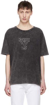Saint Laurent Grey Y T-Shirt
