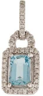 Pendant 18K Aquamarine & Diamond Halo Pendant