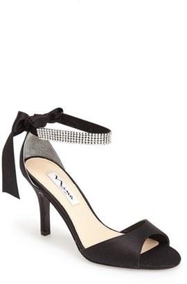 Women's Nina 'Vinnie' Crystal Embellished Ankle Strap Sandal $98.95 thestylecure.com