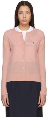 MAISON KITSUNÉ Pink Merino Classic Cardigan