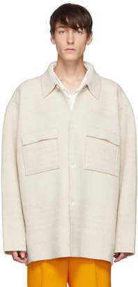 Jacquemus Off-White La Veste En Maille Jacket