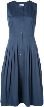 Akris Punto pleated denim shirt dress