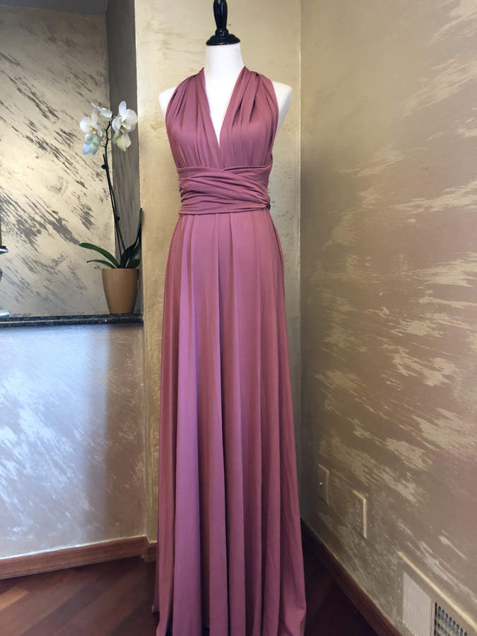 Etsy Floor Length LONG Ball Gown Maxi Infinity Dress Convertible Formal Multiway Wrap Bridesmaid Dress Ev