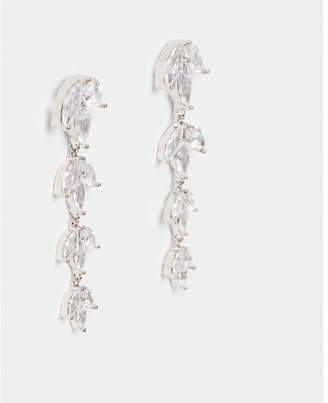 Express cubic zirconia linear drop earrings