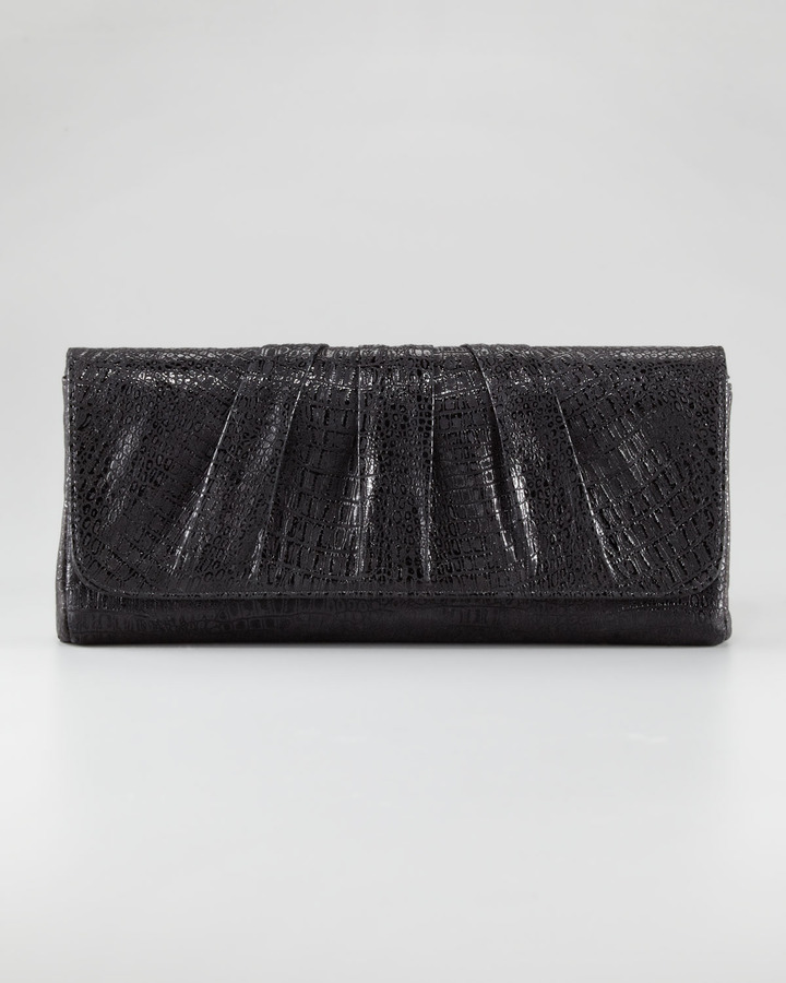 Lauren Merkin Caroline Lambskin Clutch Bag