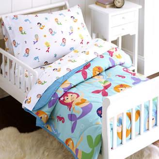 Wildkin Mermaids 4 Piece Toddler Bedding Set