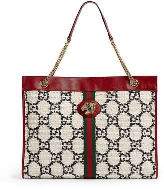 Gucci Large GG Tweed Rajah Tote Bag