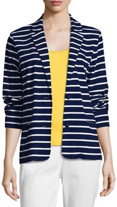 Joan Vass Striped Two-Button Jacket