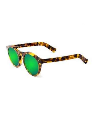 Illesteva Leonard II Mirror Sunglasses, Tortoise/Green
