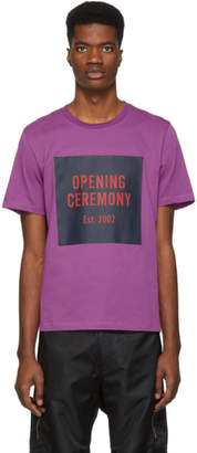 Opening Ceremony Purple Box Logo T-Shirt