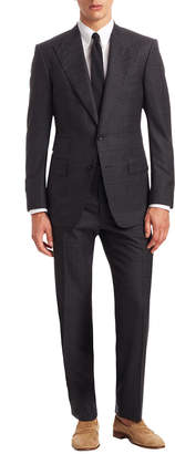Tom Ford Wool Printed Two Piece Suit