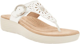 Earth Origins Perforated Wedge Sandals - Grayson
