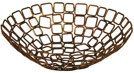 Copper Linked Basket (10x3-in.) by Front of the House