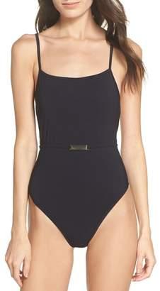 Diane von Furstenberg Belted One-Piece Swimsuit