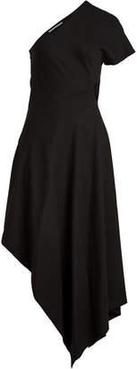 Rosetta Getty One Shoulder Slashed Dress