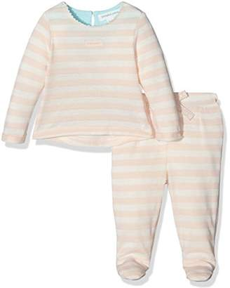 Pumpkin Patch Baby Girls 0-24m Footed Stripe Clothing Set,(Manufacturer Size:0-3M)