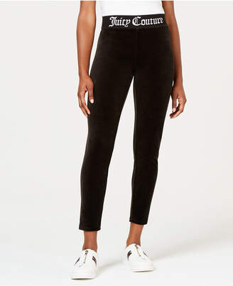 Juicy Couture Jacquard Rib Stretch Velour Leggings