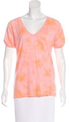 Sanctuary Short Sleeve Tie-Dye Print Top w/ Tags