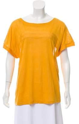 Chloé Linen Cap Sleeve Top
