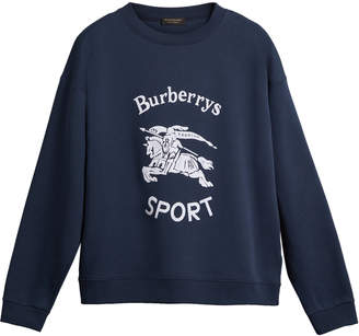 Burberry Printed Cotton-Blend Sweatshirt