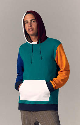 Pacsun Brite Colorblock Oversized Pullover Hoodie