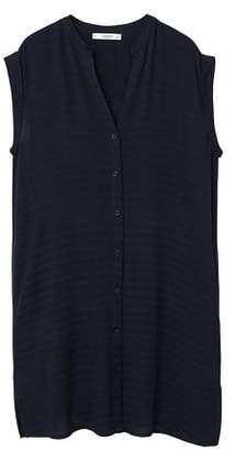 MANGO Textured chiffon blouse
