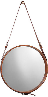 Jamie Young Mini Hanging Mirror - Leather