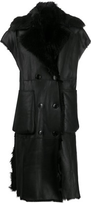Diesel L-irta sleeveless shearling coat