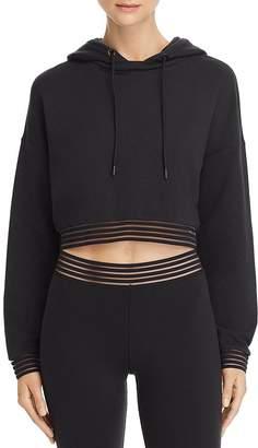 Alo Yoga K-O Illusion-Hem Hooded Sweatshirt