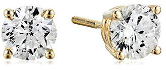 Certified 14k Gold Diamond with Screw Back and Post Stud Earrings (1cttw