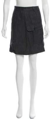 Balenciaga Linen Mini Skirt