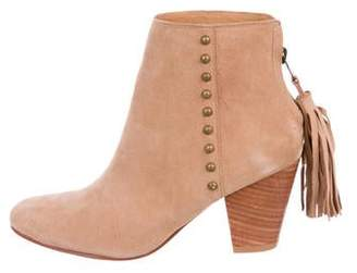 Ulla Johnson Suede Round-Toe Ankle Boots