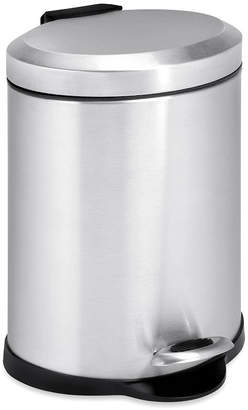 Honey-Can-Do 5-Liter Oval Stainless Steel Step Trash Can