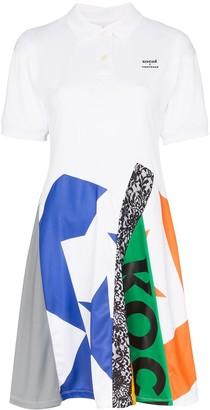 Converse X Koché patchwork polo dress